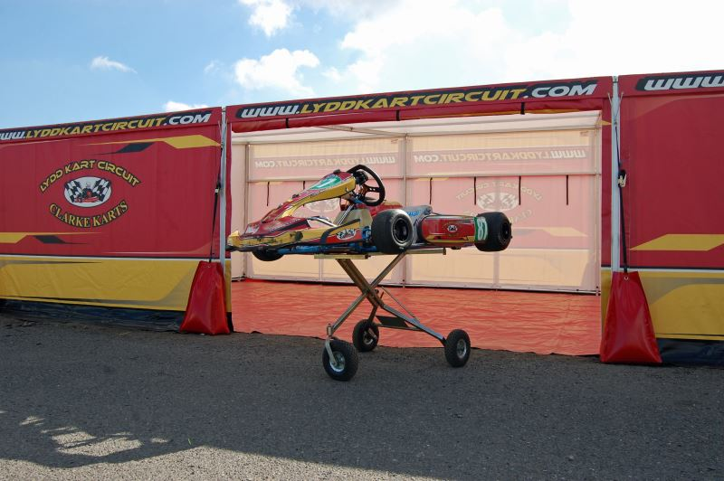 Lydd Kart Circuit with new awning design for 2017